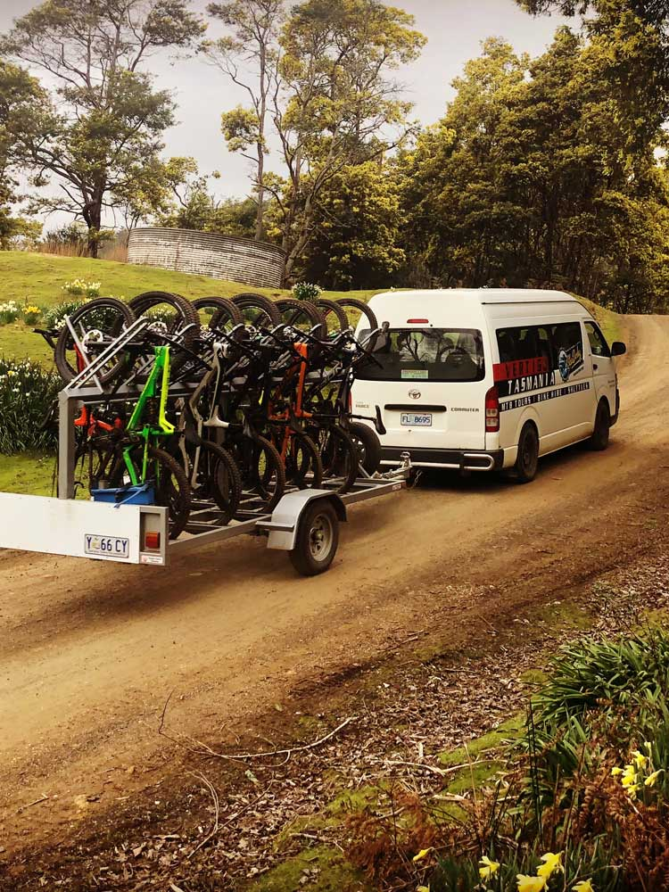 Vertigo Tasmania, Bike Shuttle Hire -