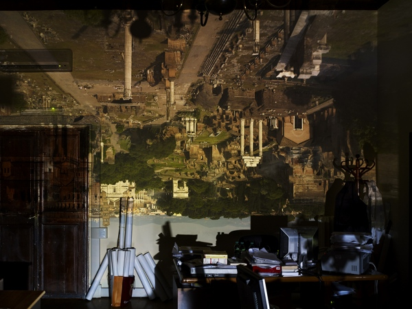 Camera Obscura: View of the Roman Forum in City Hall Office, 2010 © Abelardo Morell