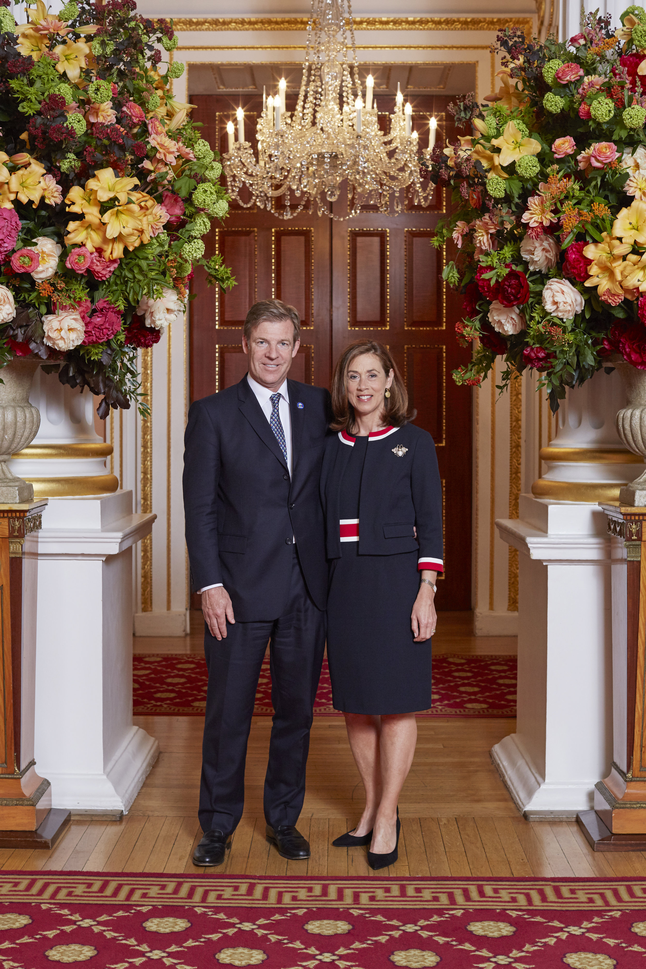 William with Hilary in The Lord Mayor's residence, Mansion House.