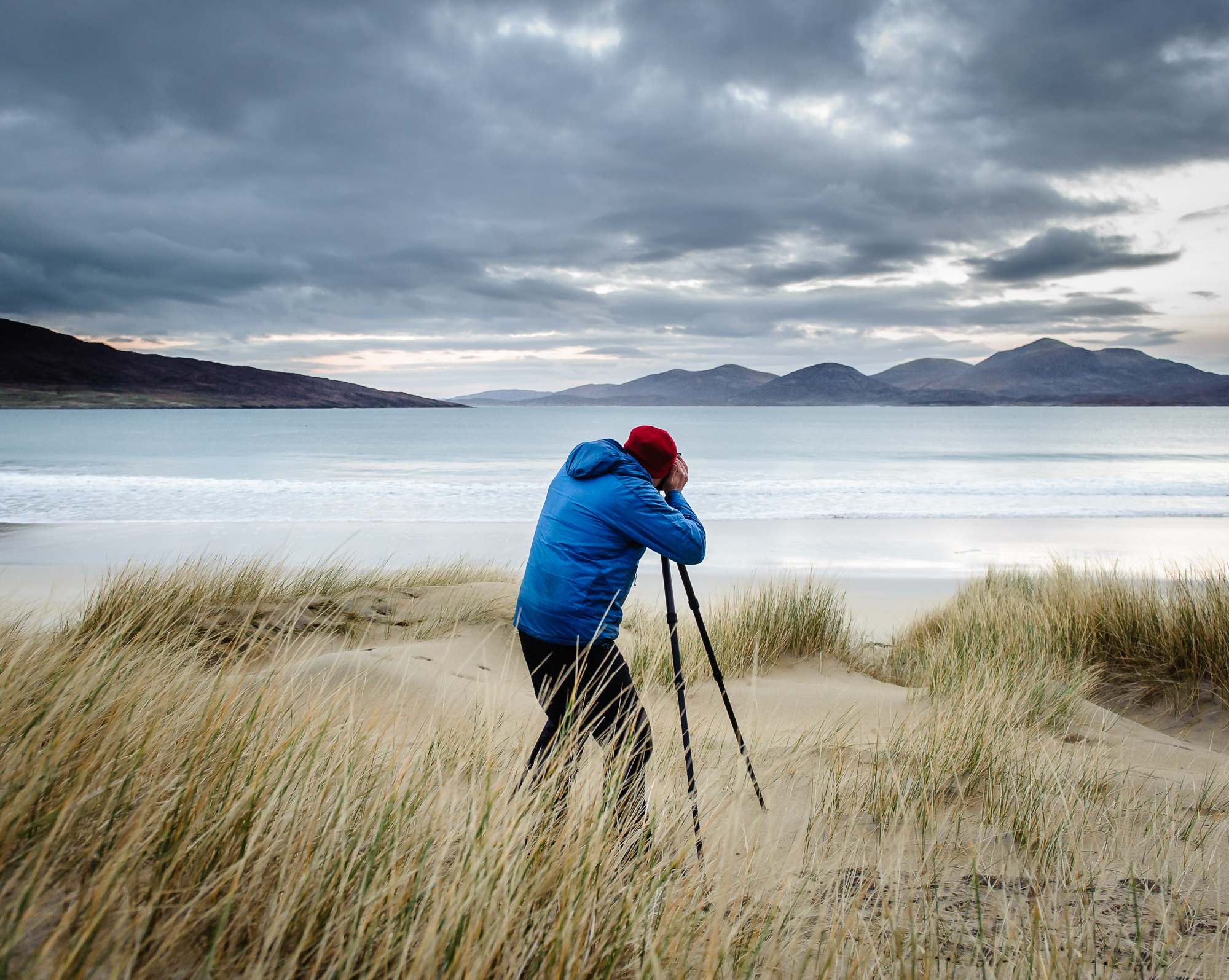 'Outside, with my camera, a good pair of walking boots and a flask of tea' -
