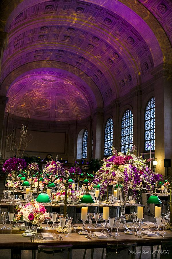 SIMERAL & CO., DAVID MURRAY WEDDINGS, BOSTON PUBLIC LIBRARY, SBL LIGHTING DESIGN, LOTUS FLORAL EVENTS