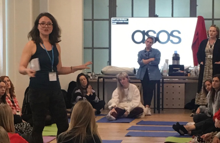 Yoga in the Boardroom at ASOS HQ, Camden
