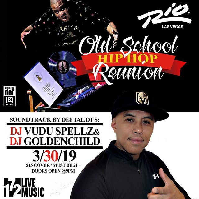 If you're a fan of Old School Hip Hop then head down to @rock.172 at the Rio tonight and check out my boy Platinum award winning Producer and DJ @vuduspellz!!
