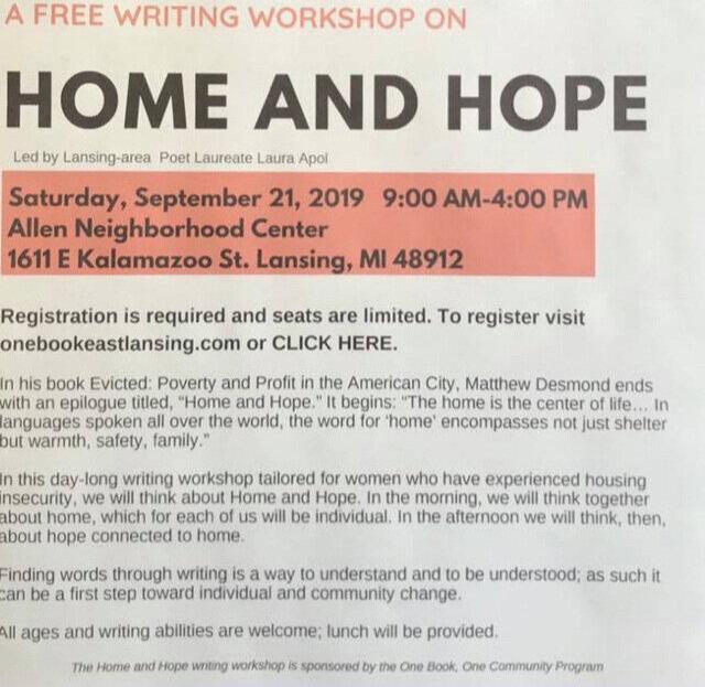 A Free Writing Workshop: Home and Hope