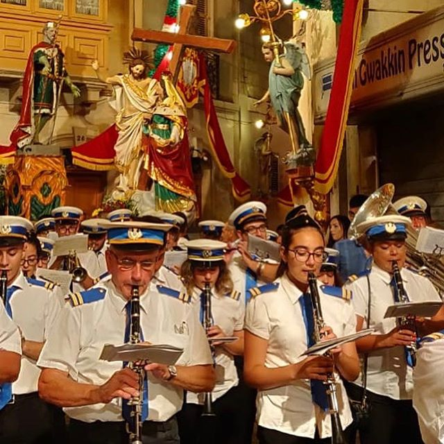 Yesterday, La Vittoria Band Club played for the Feast of the St. Helen in #Birkirkara. 🥁🎷🎺 #LVBC