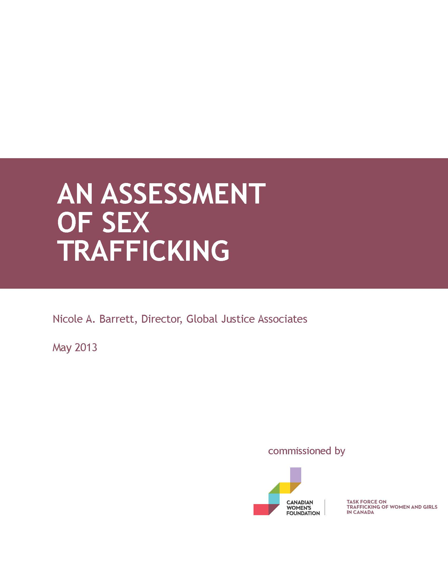 An Assessment of Sex Trafficking, 2013