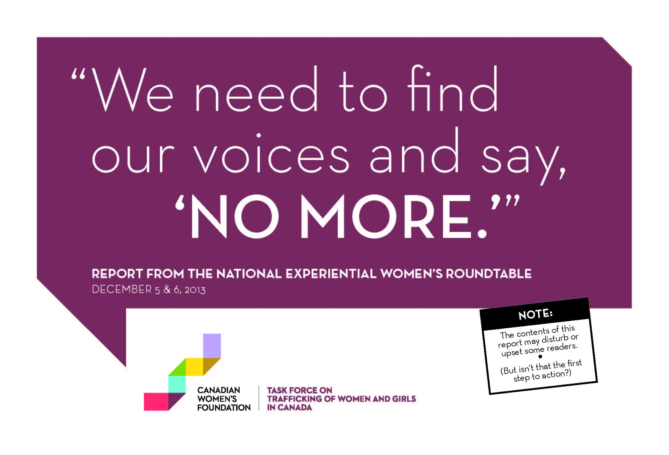 Report from the National Experiential Women's Roundtable, 2013