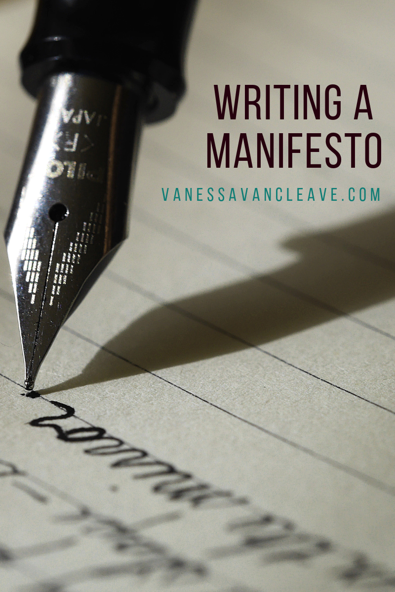 Writing a Manifesto