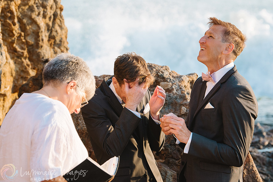same-sex-wedding-funny-moment-beach-ceremony.jpg