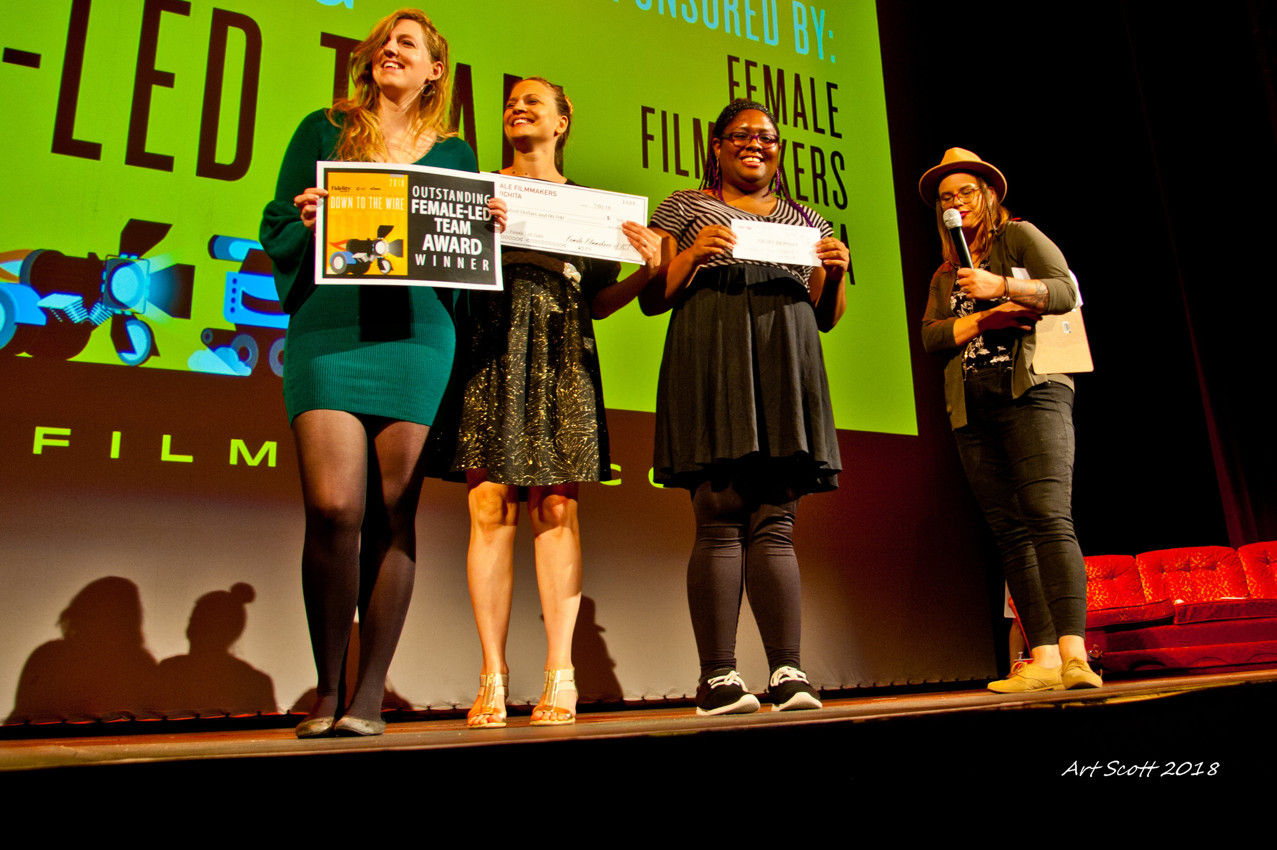 FEMMAKERS - With a wordplay on female filmmakers, we want to celebrate the creativity of womxn in Wichita with this new award!Even when it takes a village to pull off some of the things we do, we want to honour these outstanding womxn who through their endurance creating a short film in 24 hours shows excellence in storytelling and leadership. A Registered Team can qualify for the FEMMAKERS award if the team is an all-womxn team (of one to five registered members).