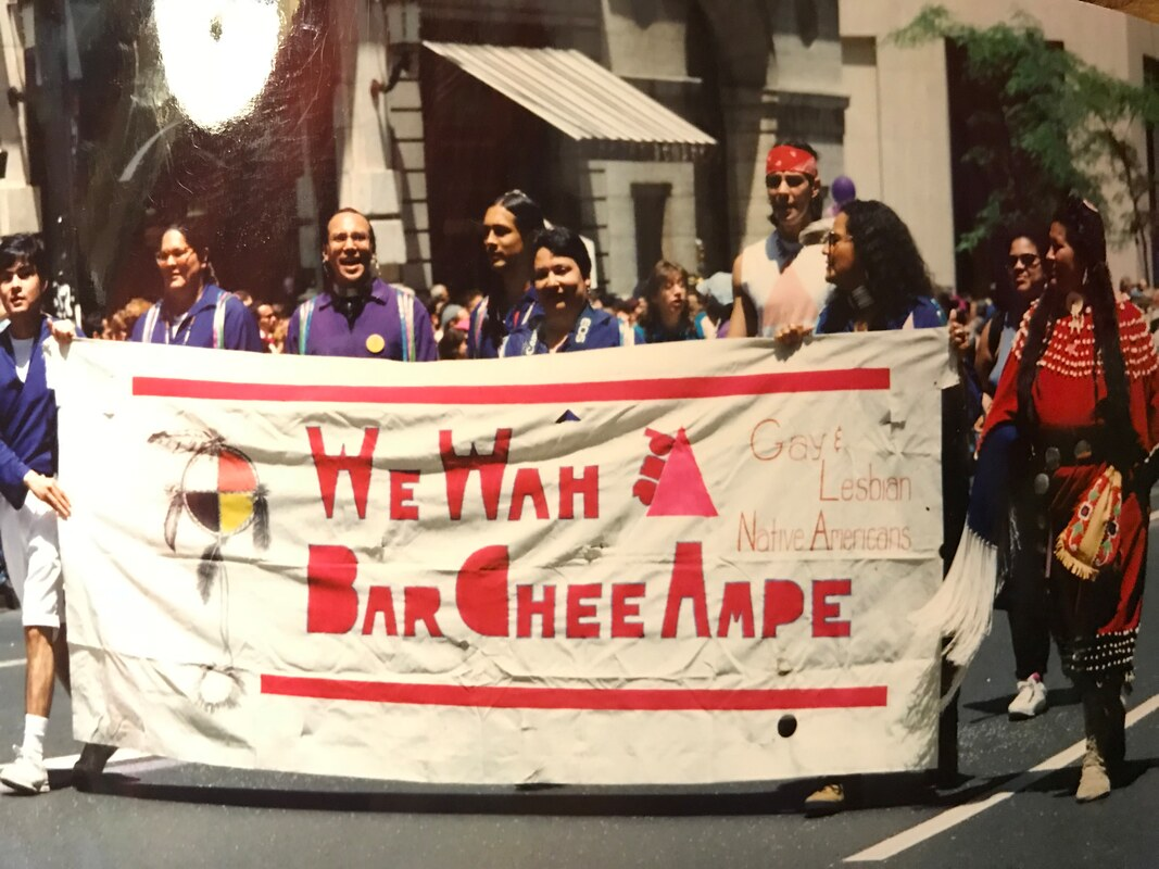 WeWah and BarCheeAmpe, the first LGBT group in NYC, 1990.