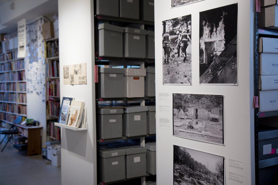 Interior image of current exhibition. Photo credit: Ryan Buckley