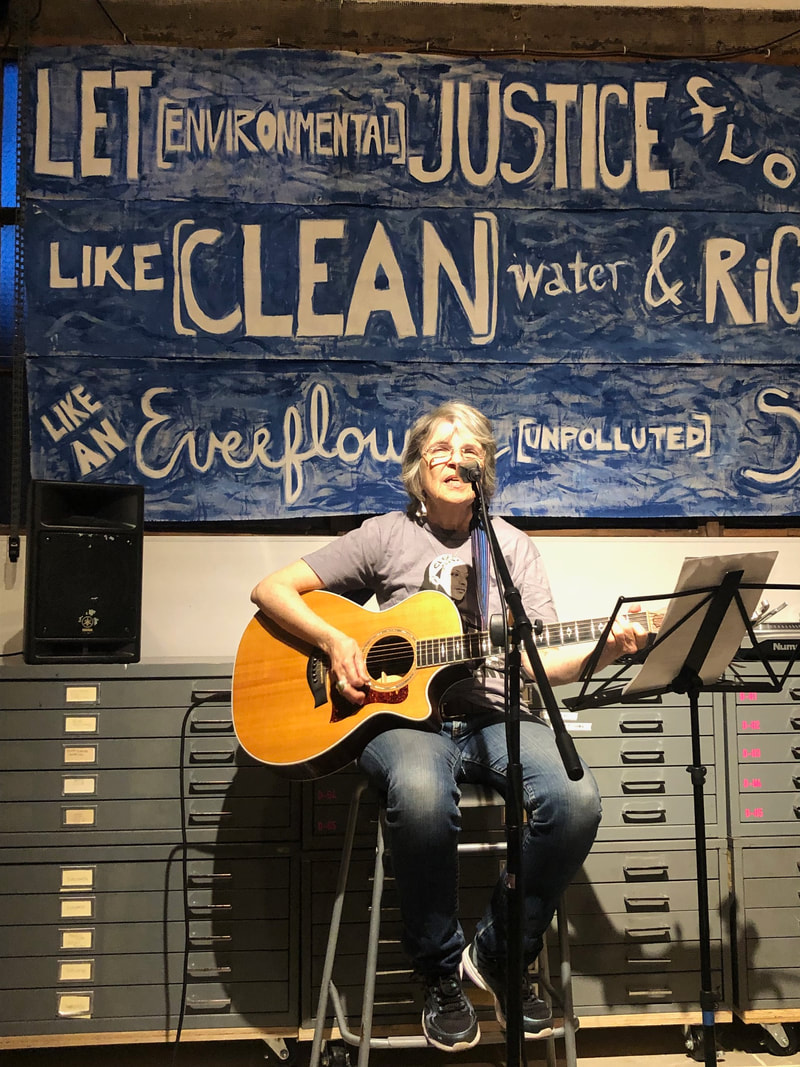 Singer/Activist Bev Grant at a Poor People's Campaign music event. Photo credit: Nora Almeida