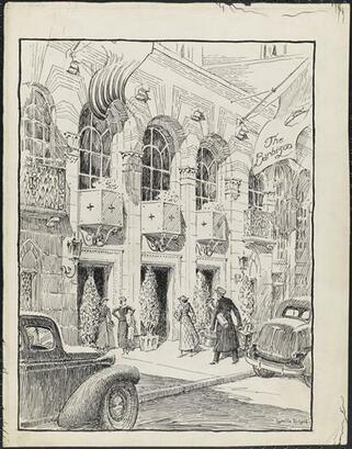 Greville Rickard, Barbizon Hotel, ca. 1930. Museum of the City of New York.