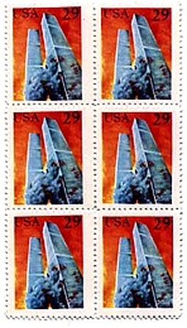 Novelty postage stamps issued in wake of 1993 WTC bombing.