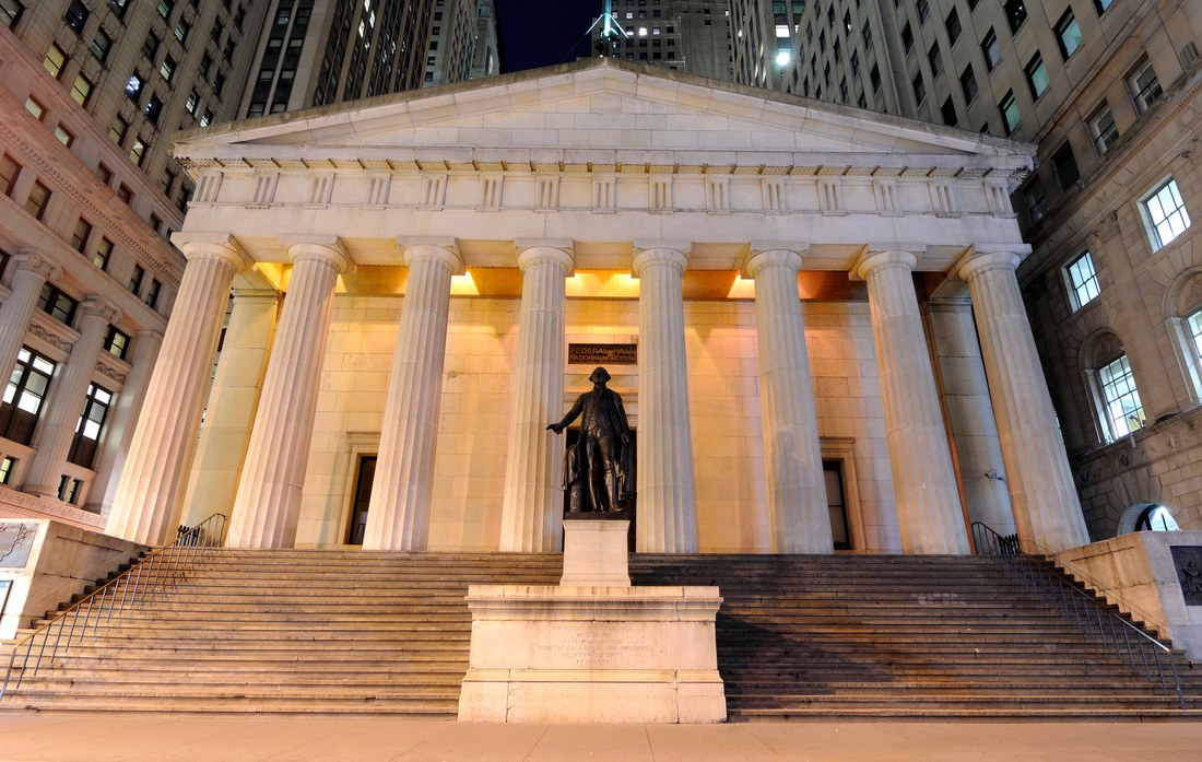 """Don Hawkins , """"dean of Washington, DC architectural history,"""" on Federal Hall, the early city hall remodeled by Pierre Charles L'Enfant for the seat of America's first government, on Wall Street"""