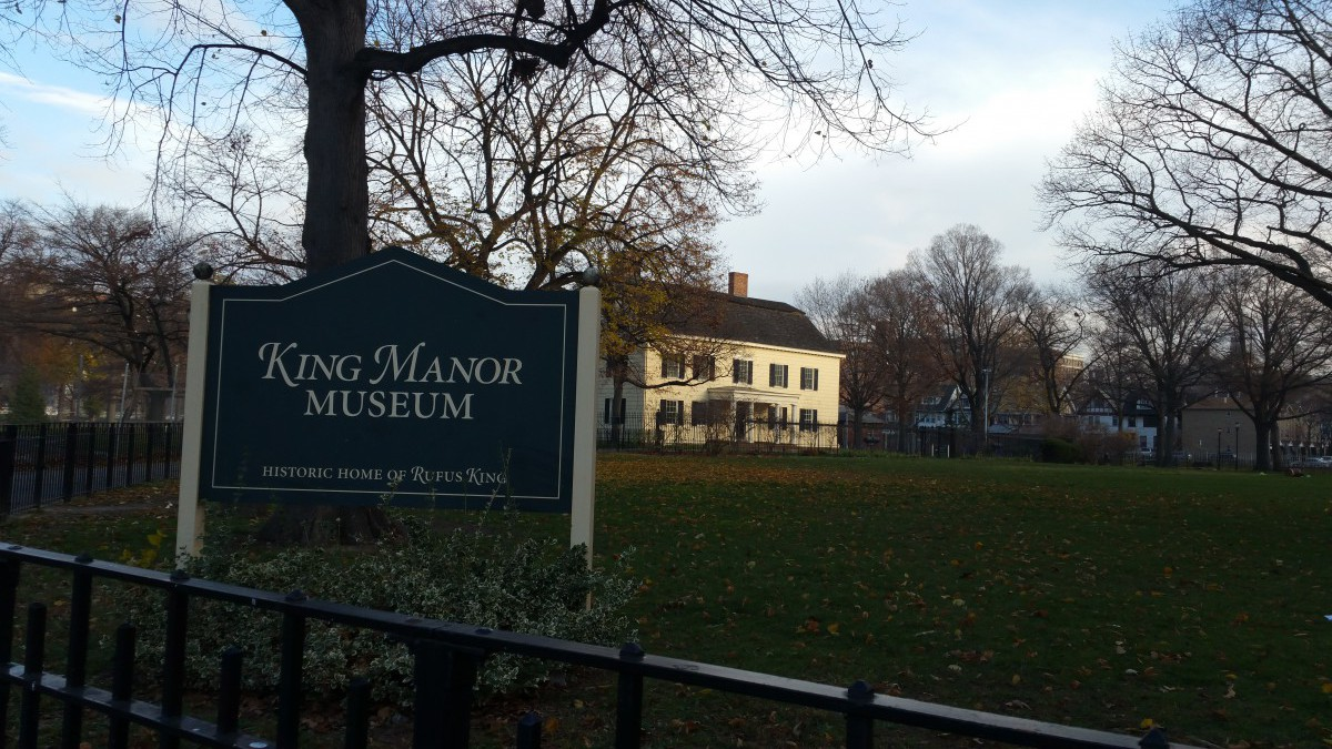 """David Gary , curator at the American Philosophical Society, on King Manor in Jamaica, home to Alexander Hamilton's """"right hand man,"""" the influential Federalist and early antislavery leader, Rufus King"""