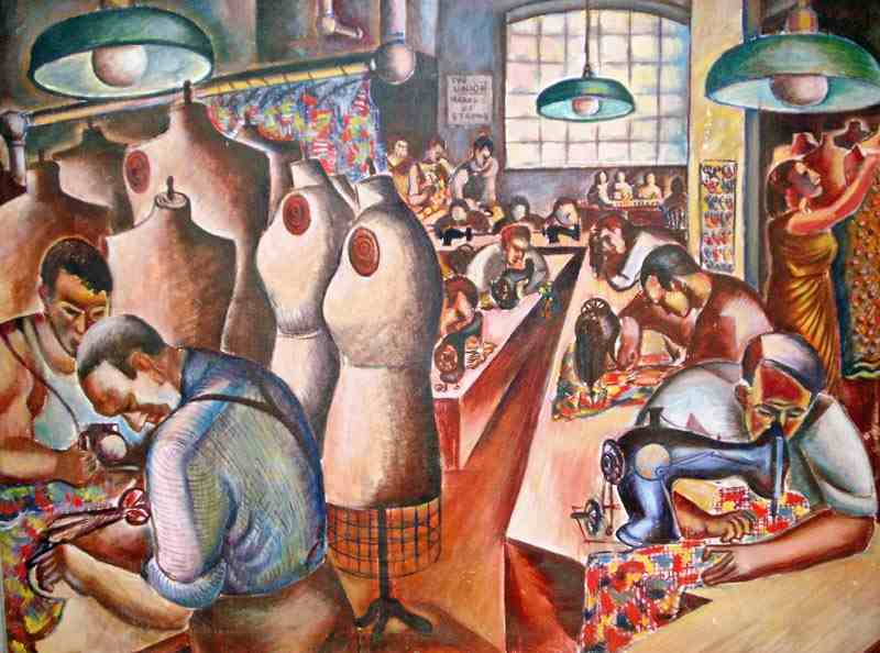 The Union Makes Us Strong; oil/canvas; 1938