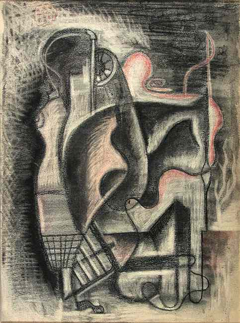 Dress Forms; charcoal; c.1938