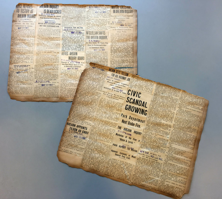 Pages from the Ahearn scrapbook.