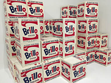 Brillo Boxes, 1964. Screenprint and ink on wood. Photo by author.