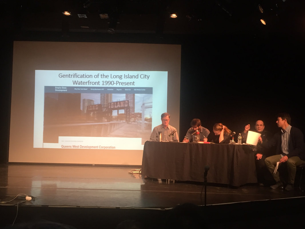 First Panel of the Teach In at LaGuardia Community College. Photo by author.