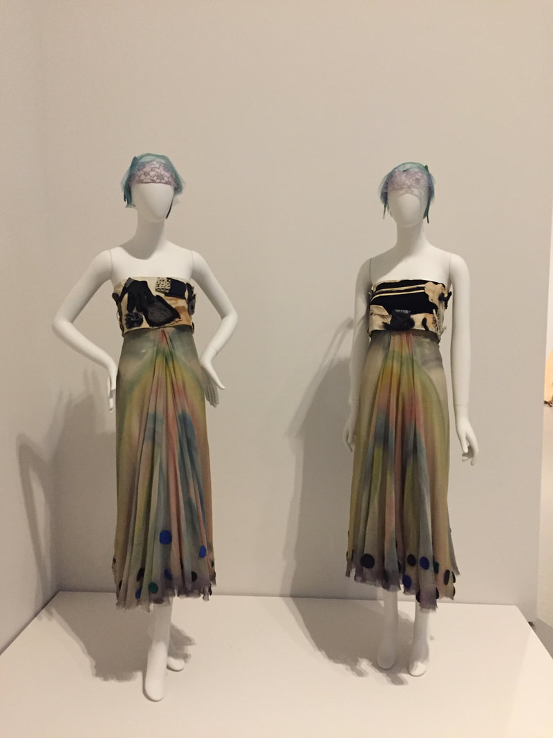 James Waring, Costumes for Aileen Passloff's Strelitzia, 1960 in MoMA's Judson Dance Theater: The Work Is Never Done, 2018. Photo by author.