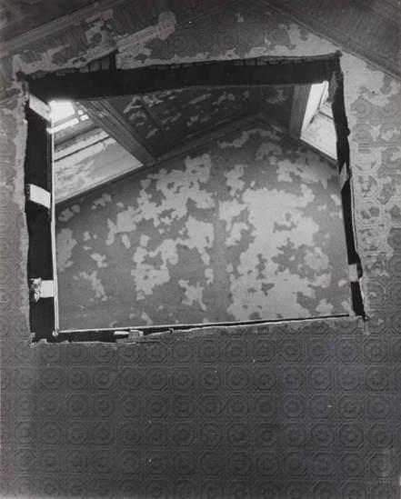 """Bronx Floors,"" Gordon Matta-Clark. Courtesy of: Alma Zevi, http://www.almazevi.com/exhibitions/venice/134/heidi-bucher-and-gordon-matta-clark/."