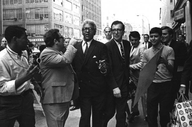 Bayard Rustin and Albert Shanker at City Hall Rally, September 1968. Sam Reiss, Photographer. UFT Photo Collection, Robert F. Wagner Labor Archives, New York University.
