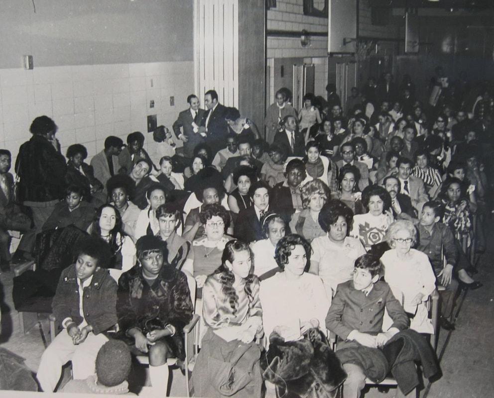 Black and Puerto Rican parents meet at a United Bronx Parents' gathering, 1970s. United Bronx Parents Records, Centro de Studios Puertorriqueños, Hunter College, CUNY.