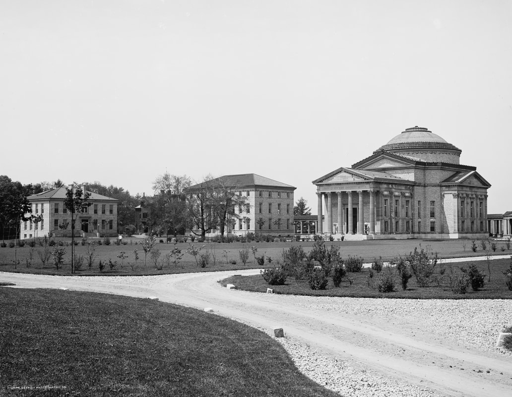 Exterior of the Gould Memorial Library.