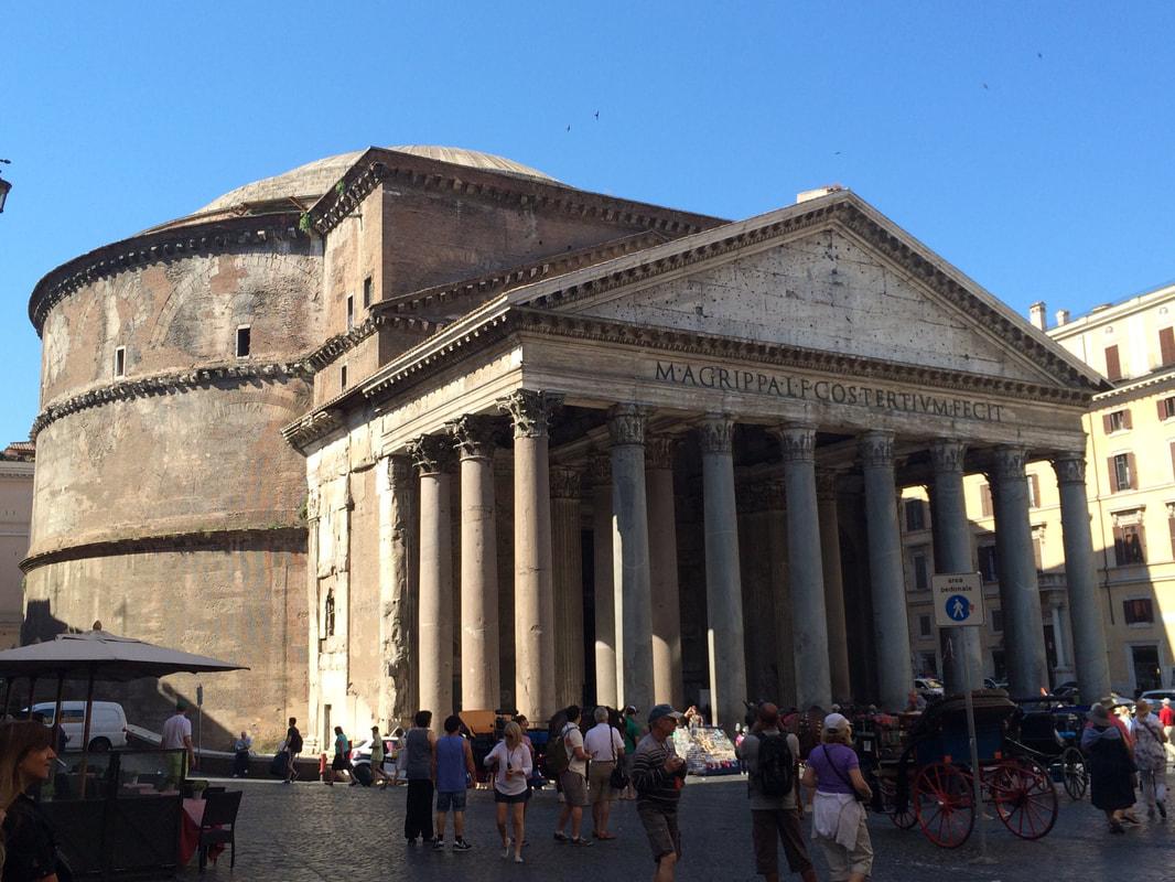 Exterior of the Pantheon.