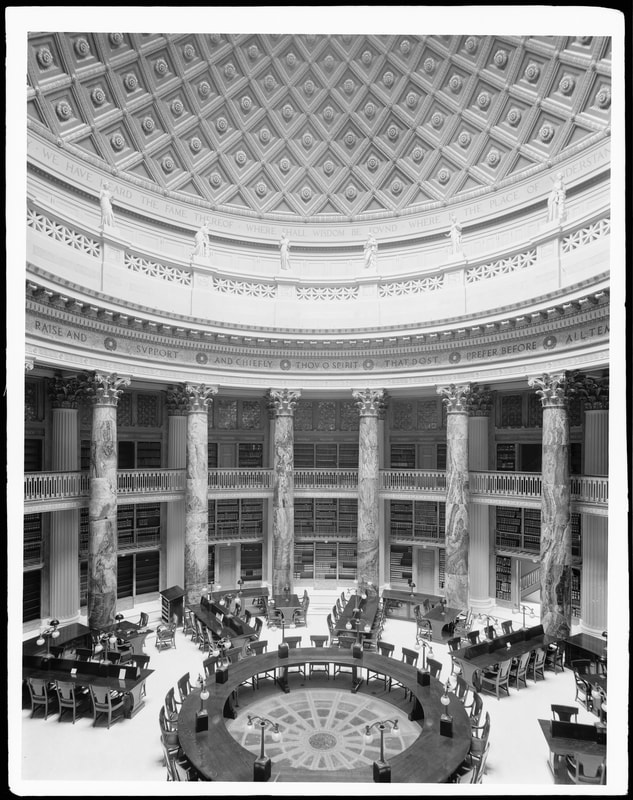 Interior of the reading room.