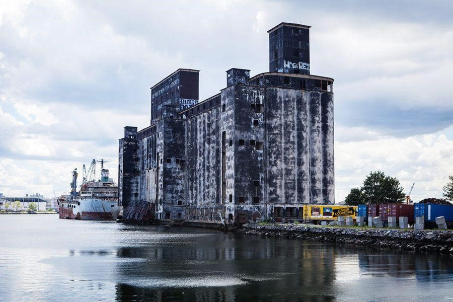 The Port of New York Grain Terminal, viewed from Red Hook Park  (Photo Credit: Ali Hussain)