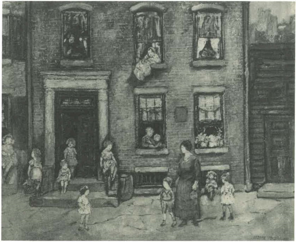 8.1 Jerome Myers (1867-1940),  East Side Children,  also referred to as  In Front of Tenement.  Jerome Myers,  The Artist in Manhattan  (New York: American Artists Group, 1940), 229.