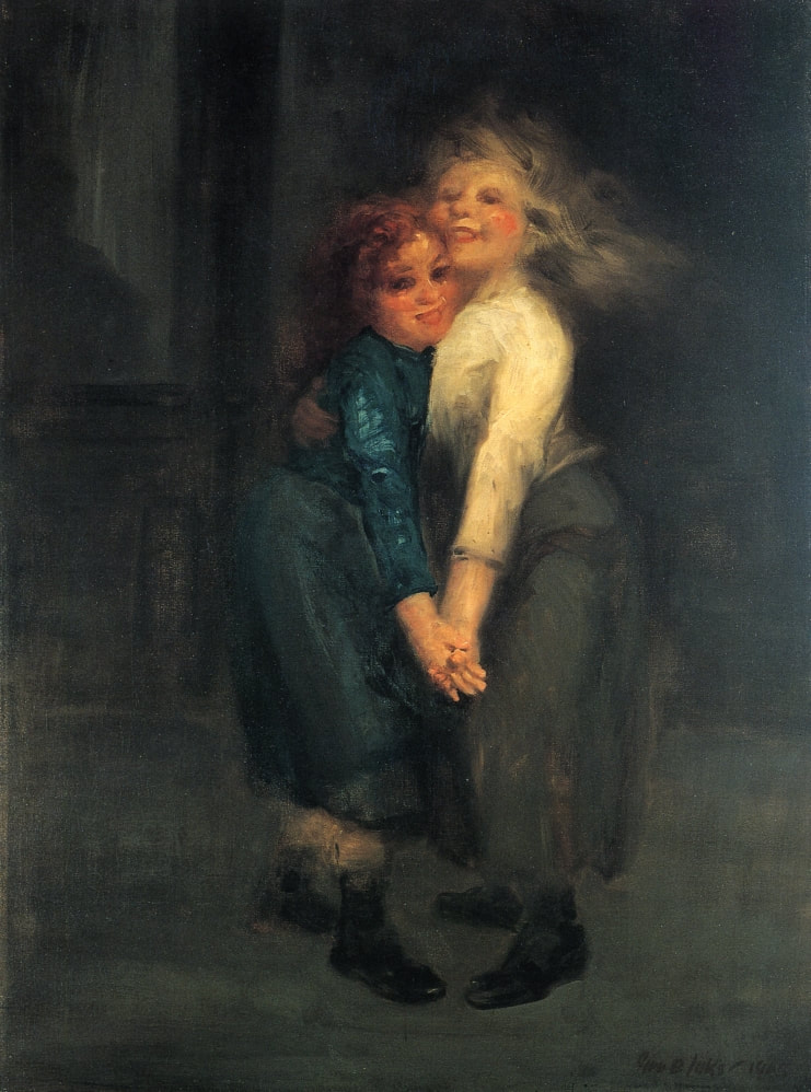 8.3 George Luks (1867-1933),  The Spielers,  1905, oil on canvas, 36 1/16 x 26 1/4 inches; 91.6 x 66.68 cm. Addison Gallery of American Art, Phillips Academy, Andover, Massachusetts. Gift of anonymous donor. 1931.9. Photo credit: Addison Gallery of American Art, Phillips Academy, Andover, Massachusetts/Art Resource, New York.
