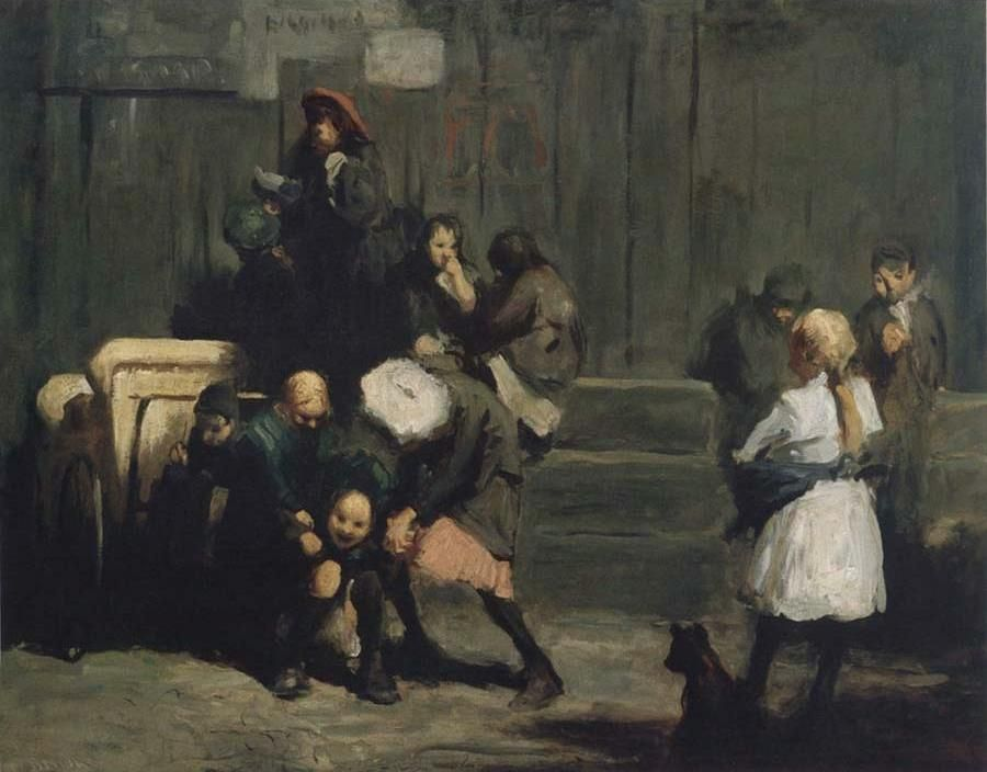8.4 George Wesley Bellows (1882-1925),  Kids,  1906, oil on canvas, 32.37 x 42.37 inches; 82.23 x 107.63 cm. Virginia Museum of Fine Arts, Richmond. The James W. and Frances Gibson McGlothlin Collection.