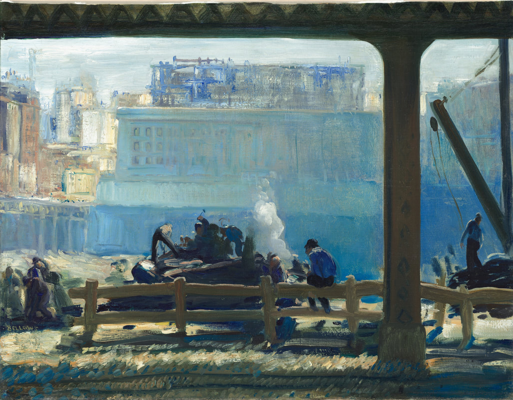 3.5 George Wesley Bellows (1882 - 1925),  Blue Morning , 1909, oil on canvas, 31 1/2 x 43 1/2 inches. Private Collection/Bridgeman Images.
