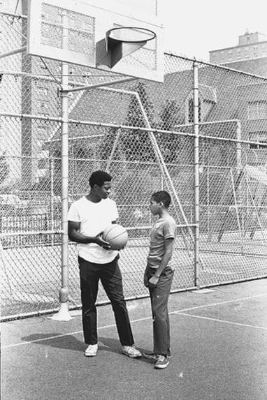 NYCHA Basketball Clinic, Butler Houses, South Bronx, 1967. New York City Housing Authority Collection, LaGuardia and Wagner Archives.