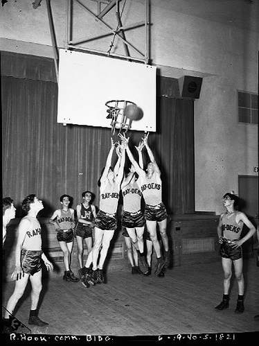 Basketball at the Red Hook Houses, June 19, 1940. New York City Housing Authority Collection, LaGuardia and Wagner Archives.