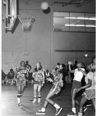 NYCHA Basketball Championships for Women and Men, February 24, 1973. New York City Housing Authority Collection, LaGuardia and Wagner Archives.