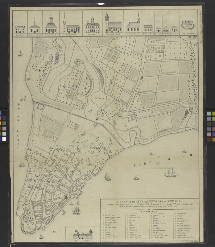 Lower Manhattan, 1742-44