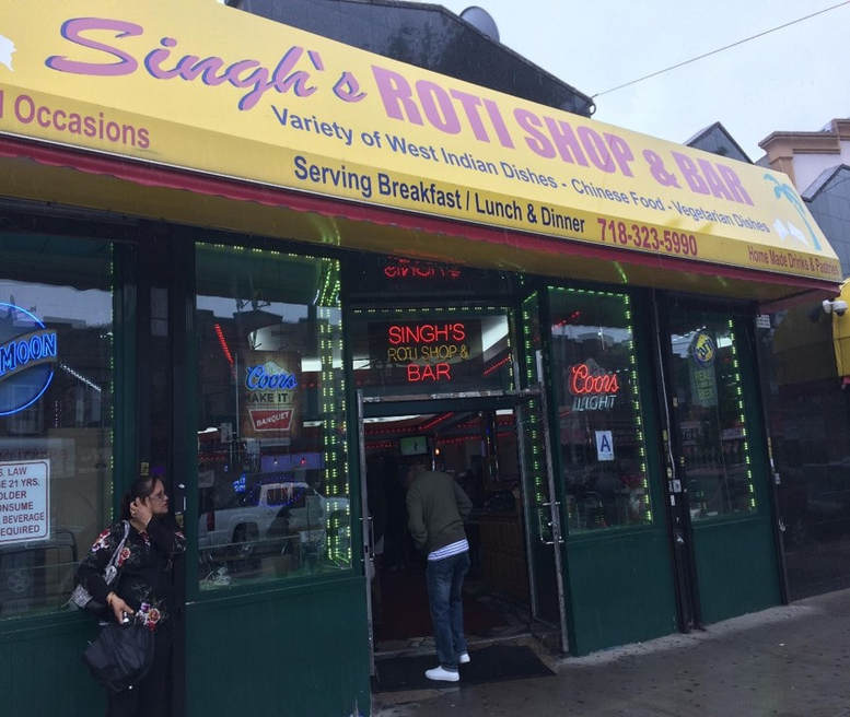 Singh's Roti Shop & Bar.