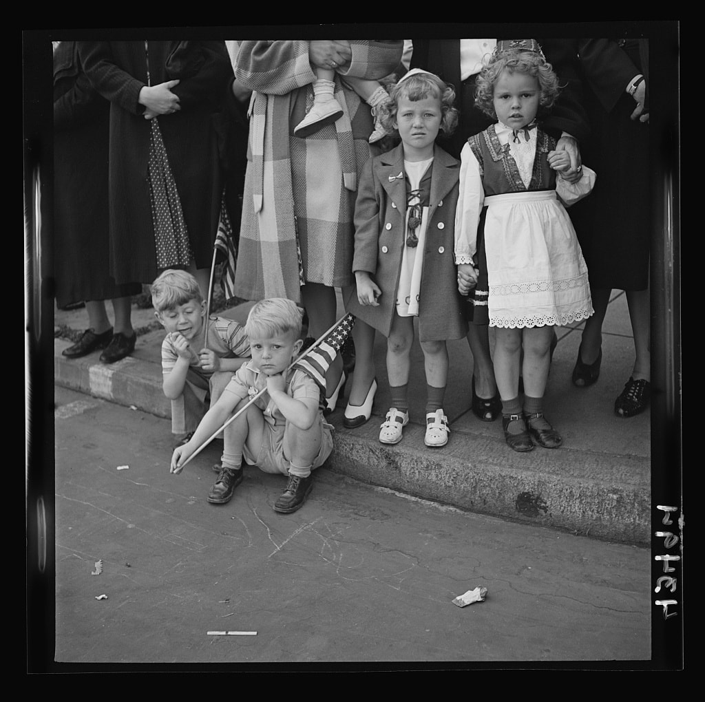Children at an Anniversary Day Parade, 1944. Library of Congress.