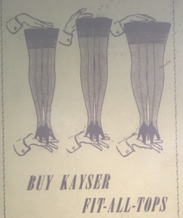 The Fit-All-Heel on Display Famous Fashion Shops Advertisement for Kayser, Queens Post, March 23, 1950.