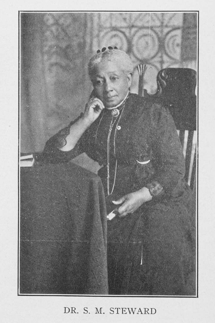 Susan Smith McKinney Steward, 1921, from T.G. Steward, Fifty Years in the Gospel Ministry; Schomburg Center for Research in Black Culture, Jean Blackwell Hutsom Research and Reference Division, the New York Public Library.