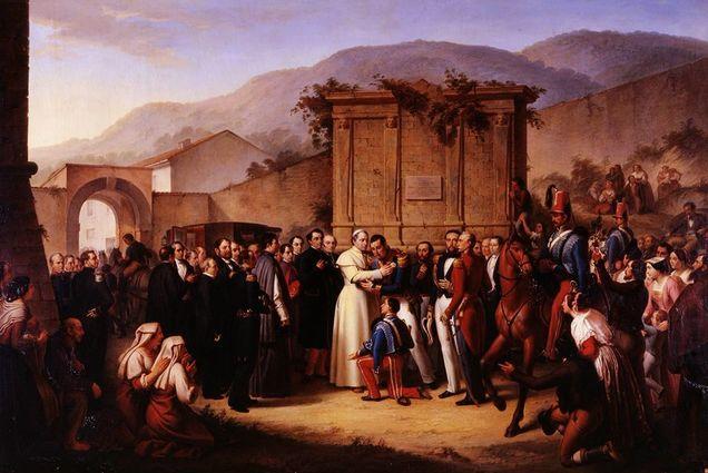 Filippo Bigioli, Farewell of Pope Pius IX to Ferdinand II after the Neapolitan Exile. Source: Carriage Museum, The Vatican