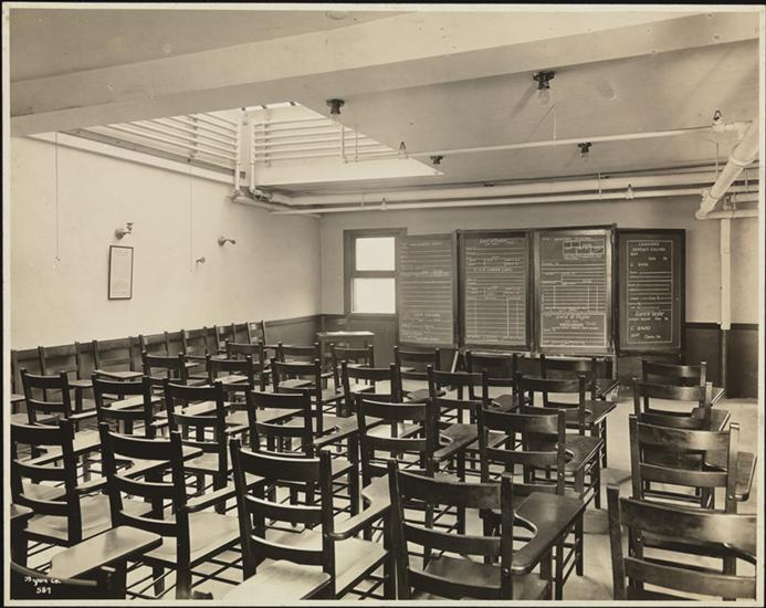 Lord & Taylor, Fifth Ave. 39th St., Social Service for Employees, Interior, Classroom. Source: Museum of the City of New York