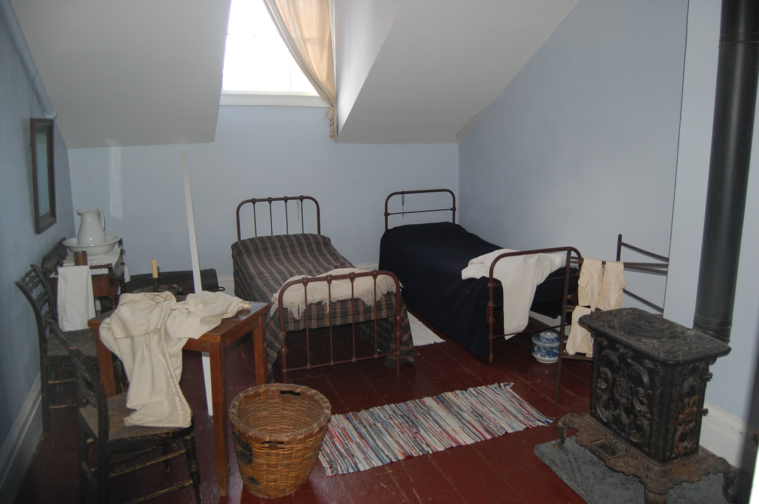 Servants' quarters at the Merchant's House.