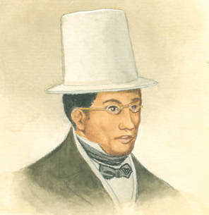 David Ruggles (1810-1849), an abolitionist and journalist, who often raised awareness of free black New Yorkers' vulnerability to kidnapping.